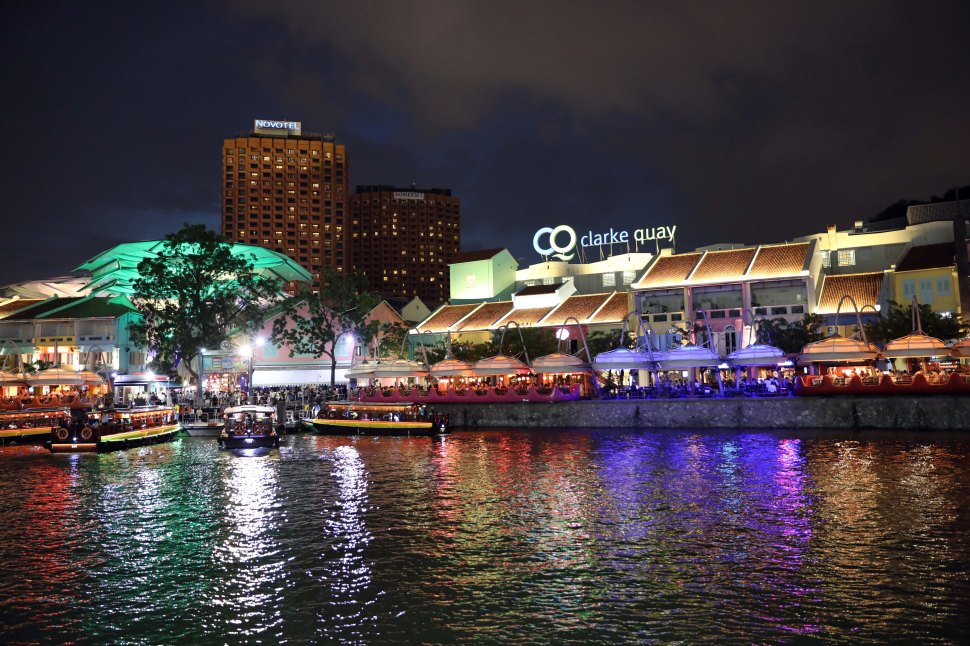 Clarke Quay at night, SIngapore
