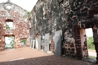 Dutch Gravestones, Portugese Church Melaka