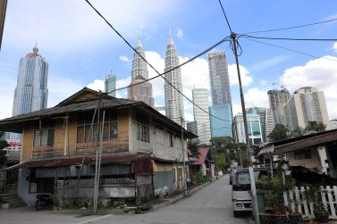 Petronas Twin Towers from Little India, Kuala Lumpur