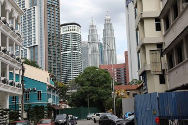 Petronas Twin Towers with view of our hotel, Kuala Lumpur