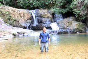 Rogely Below Waterfall