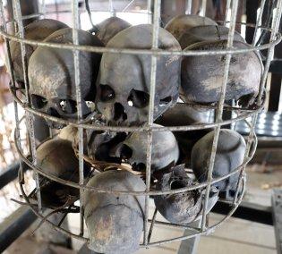 Skulls in Bidayuh longhouse