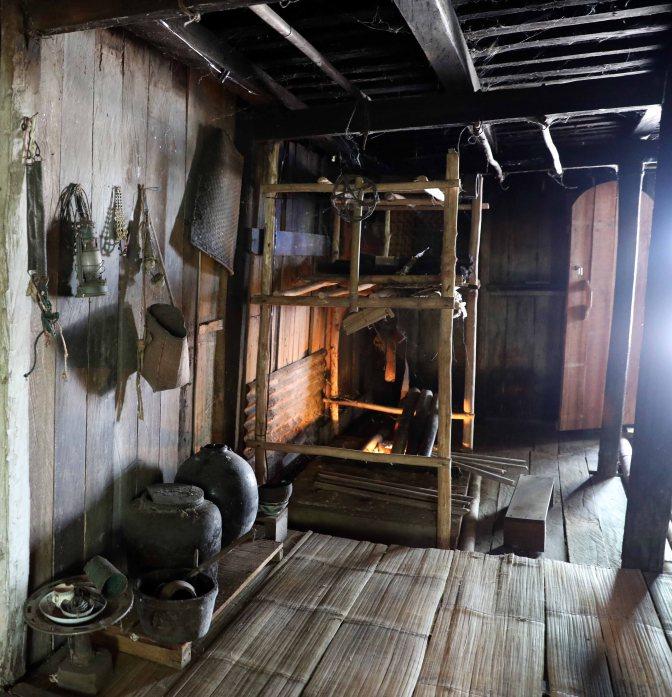 Kitchen in Bidayuh longhouse