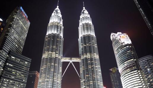 Petronas Twin Towers at night