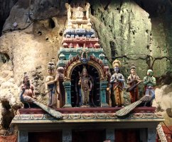Carving in Temple Cave, Kuala Lumpur