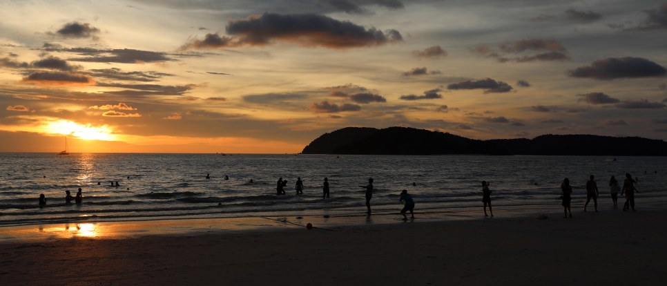 Sunset over Cenang Beach, Langkowi