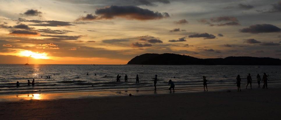 Sunset over Cenang Beach, Langkowi