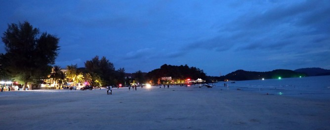 Cenang Beach at night, Langkowi