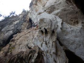 Climbing at Nam Pha Pa Yai