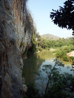 Main climbing wall and the Pasak River