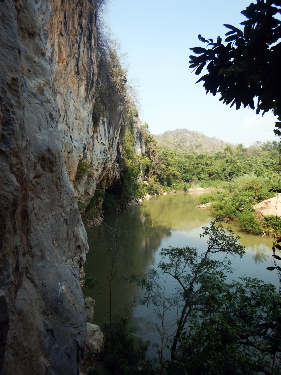 Main climbing wall and the Pasak River