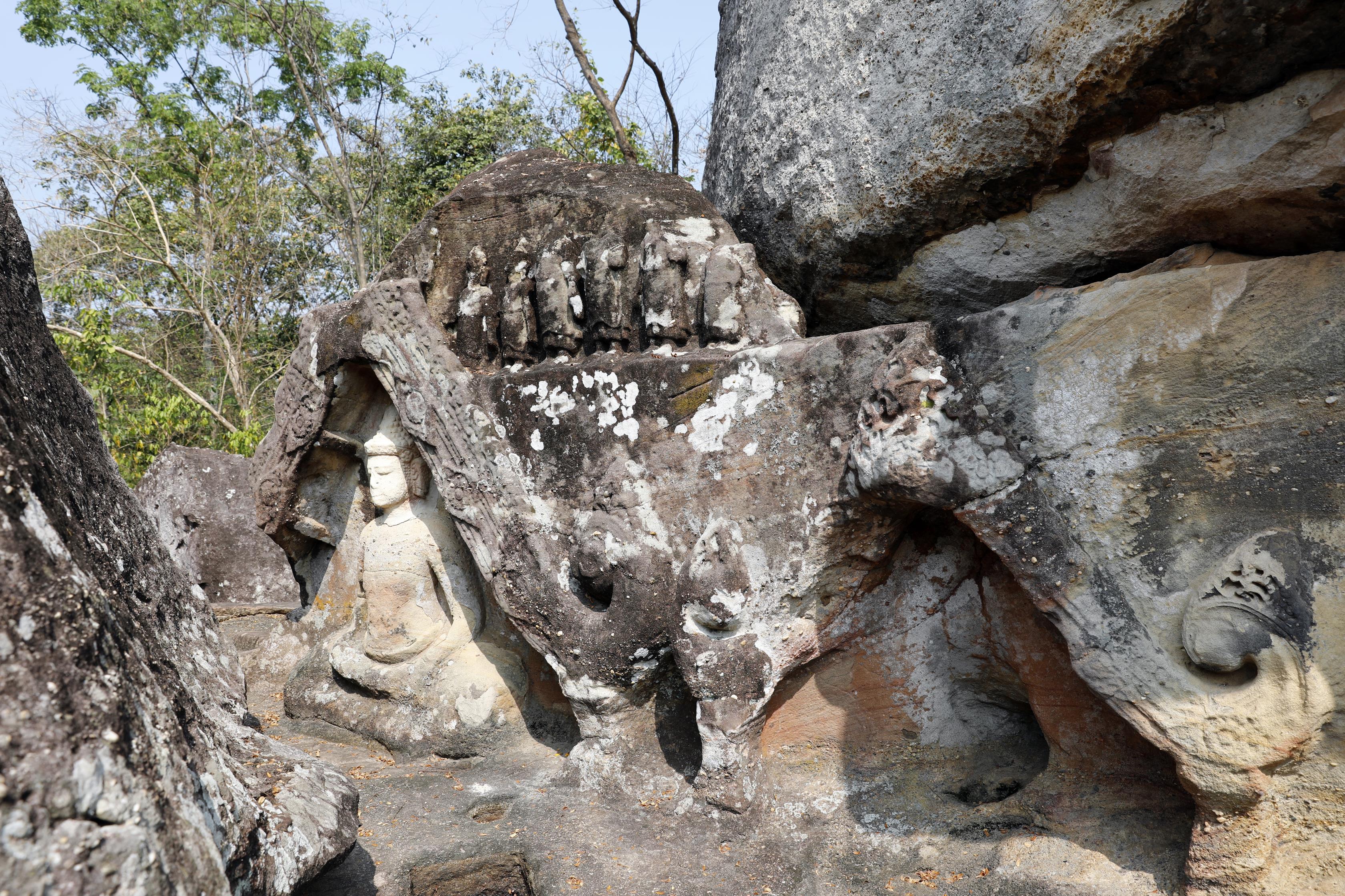 Khmer Buddha Statue, Phu Phrabat Historical Park