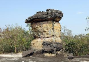 Rock feature as left by the glacier, Phu Phrabat Historical Park