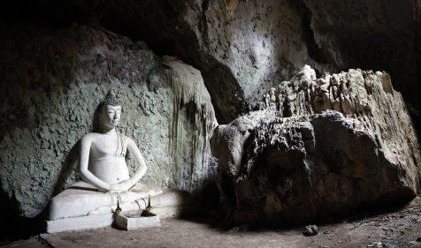 Buddha statue in meditation cave