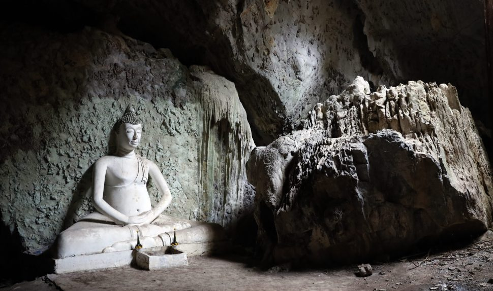 Buddha statue in meditation cave