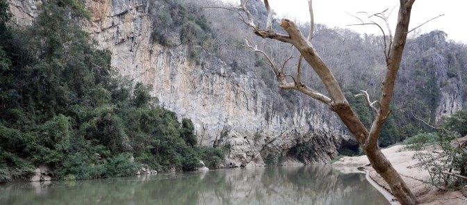 Main Climbing Wall on the Pasak River