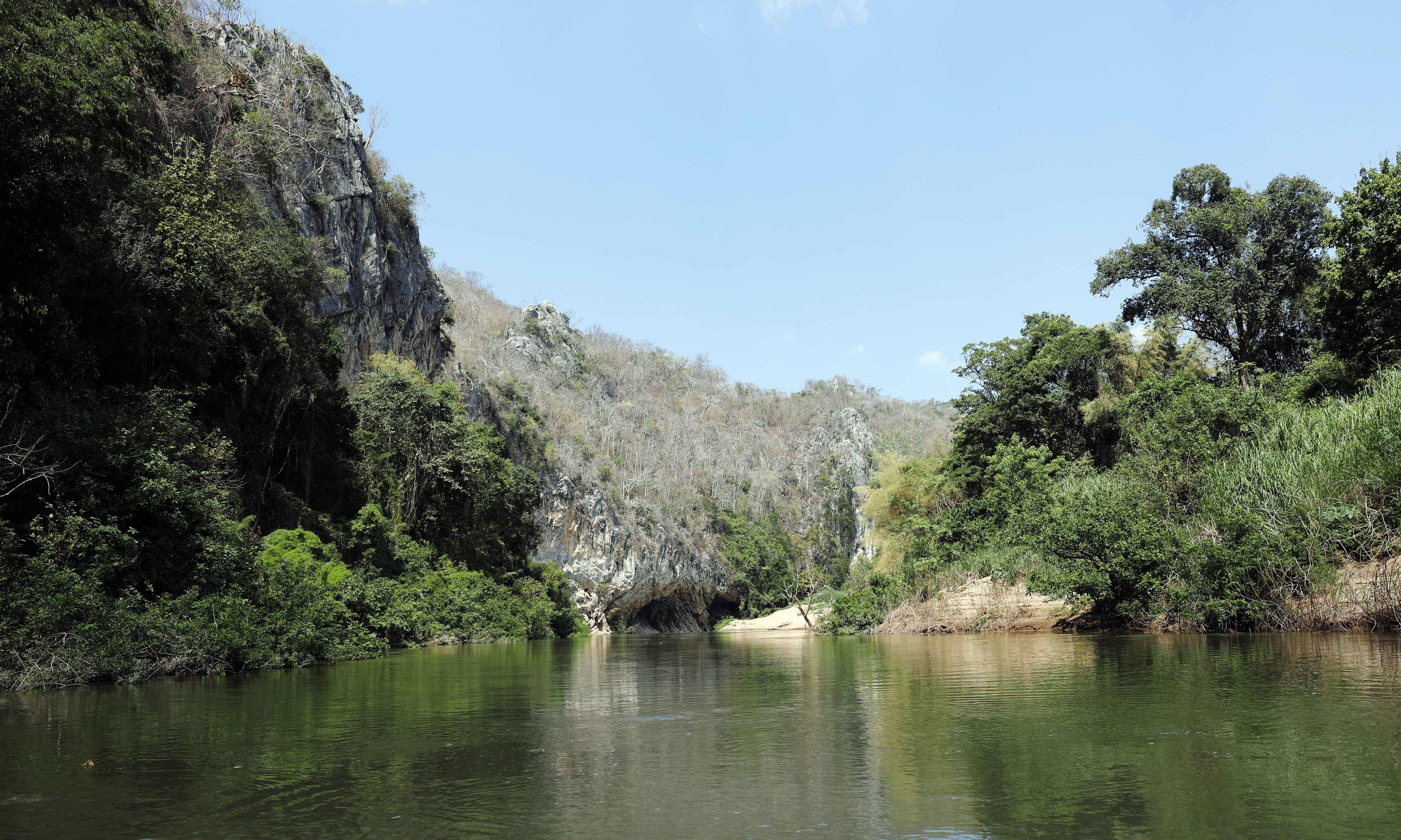 Pasak River and main climbing wall