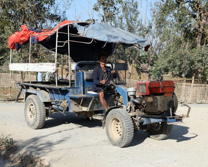 Myanmar home-made tractorwith entry way