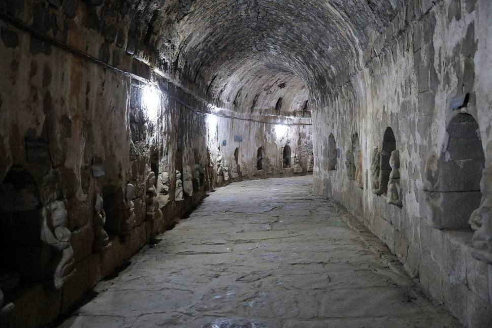 Hallway inside a pagoda