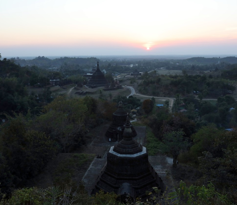 Mrauk U at sunset