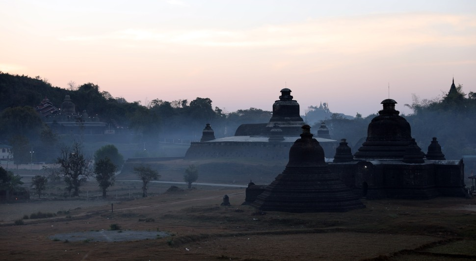 Mrauk U at sunrise