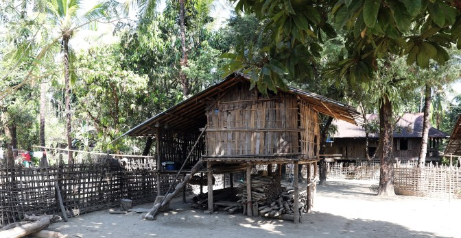 Bamboo house in a Chin village