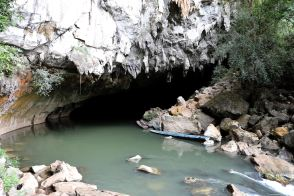 Entrance to Kong Lor Cave & the Hin Boun River