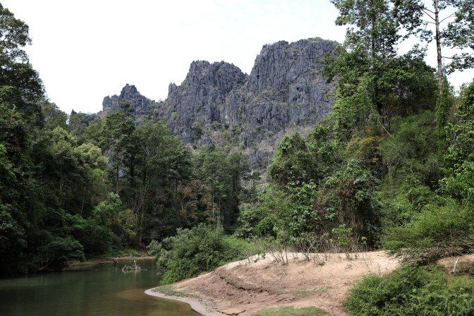 Karst peaks near Kong Lor Cave