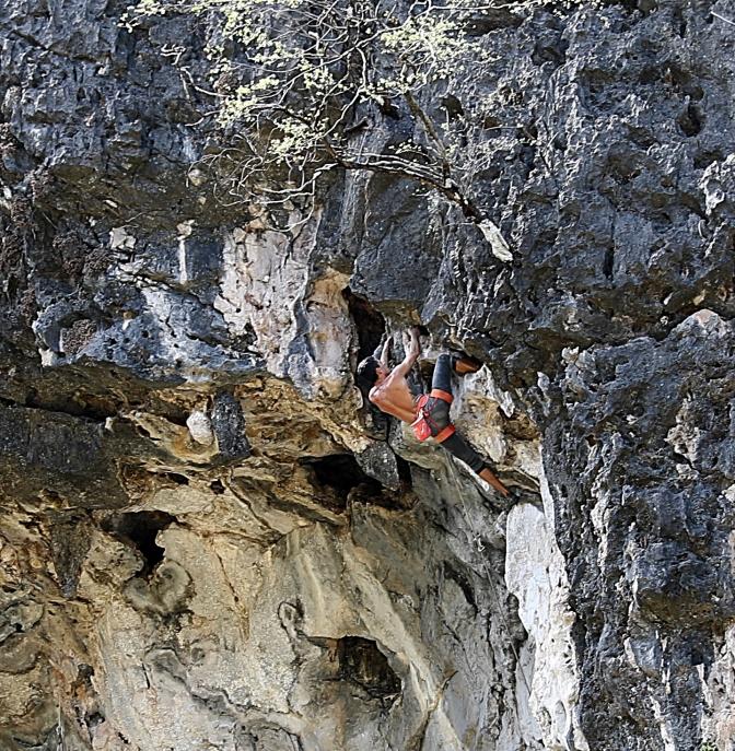 Flashing a 7+ climb, I wish we were that good