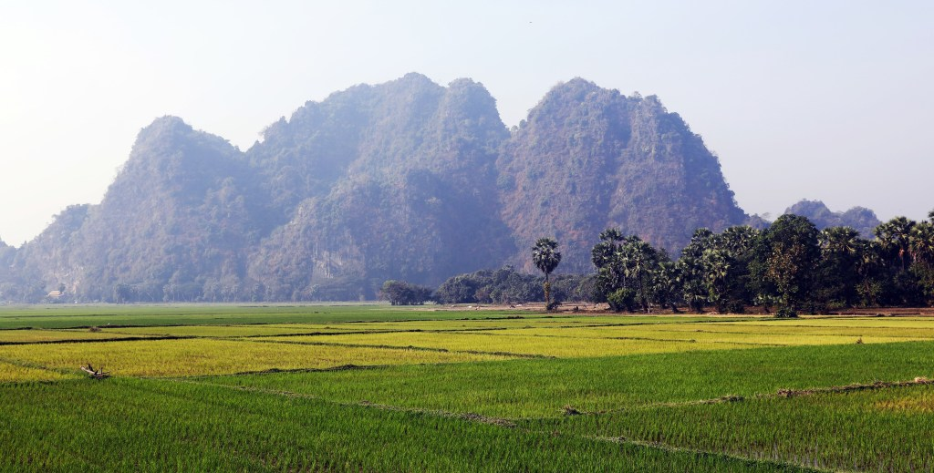 Karst mountains near Hpa An
