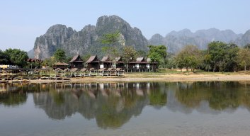 Karst Mountains and Nam Song River, Vang Vieng