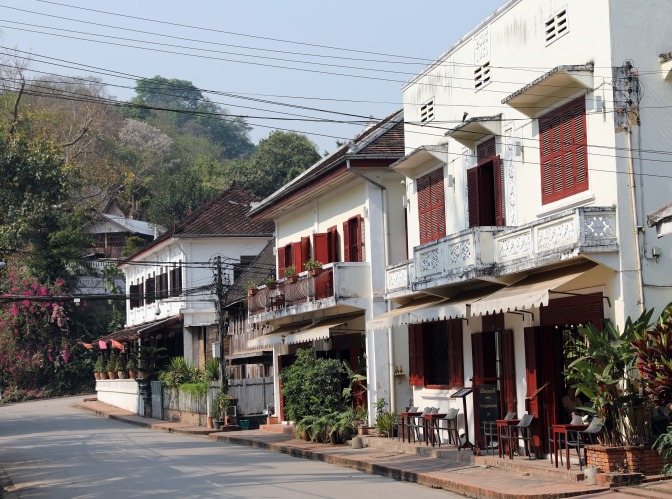 Colonial downtown of Luang Prabang