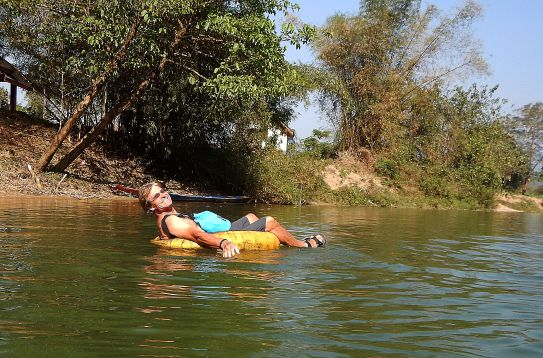 Tubing on the Nam Song River, Vang Vieng