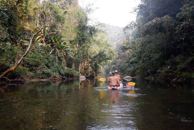 Kayaking on the Nam Ha River