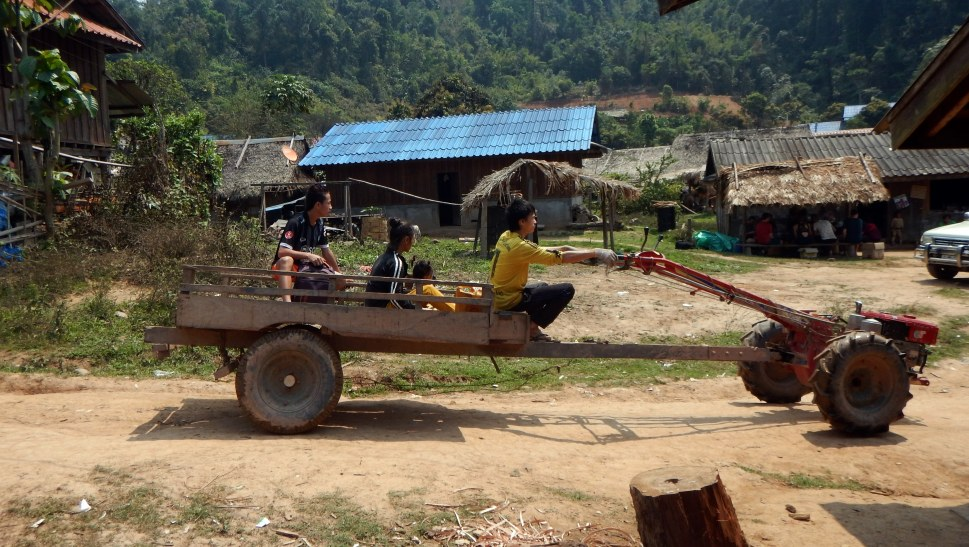 Homemade vehicle in Laos