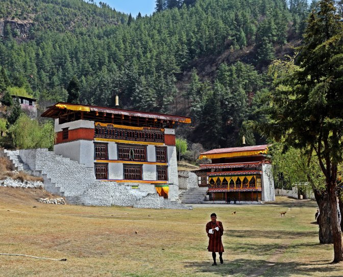 On the Paro Dzong grounds