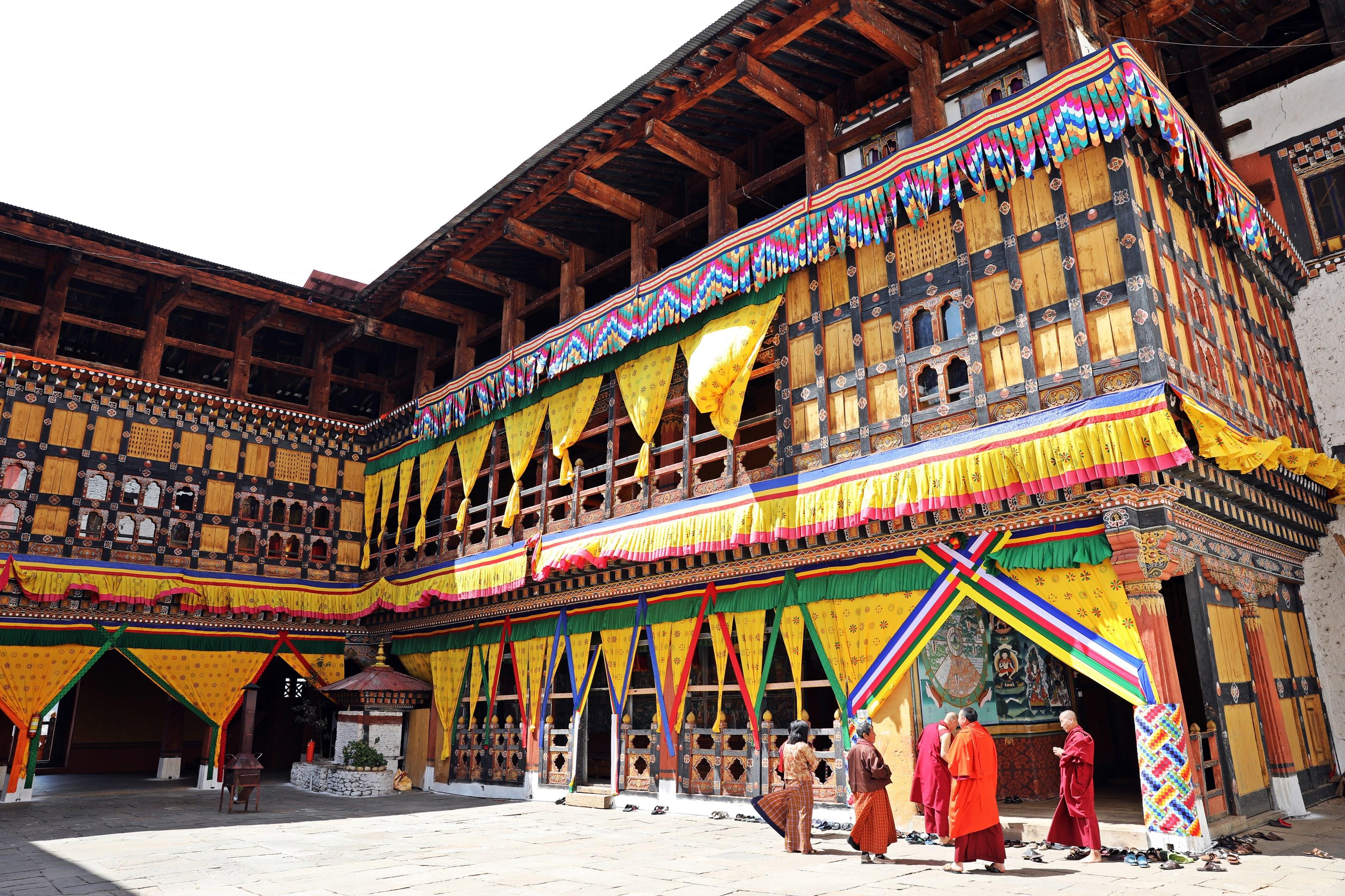 Inside Paro Dzong