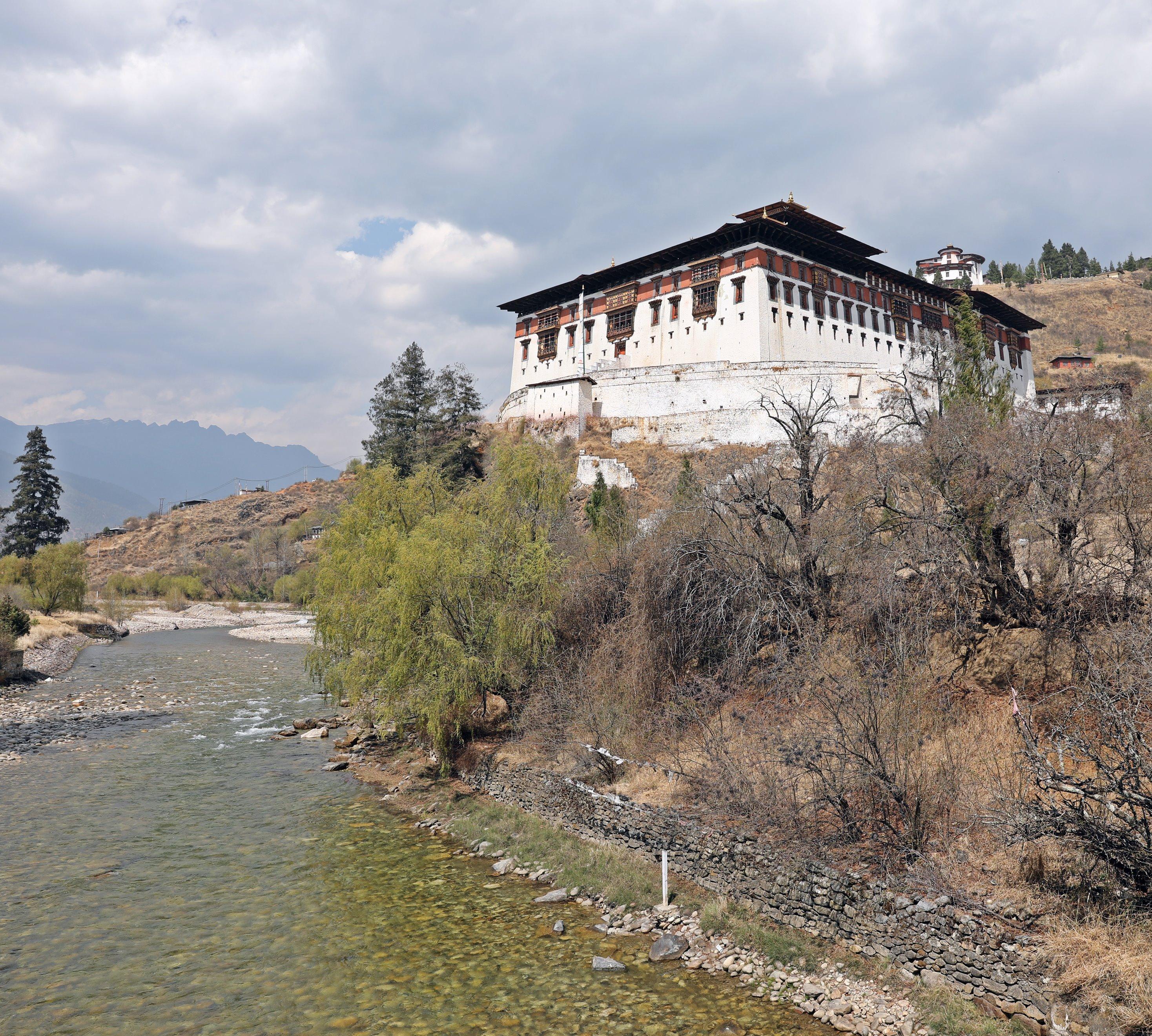 Paro Dzong on the Paro Chhu
