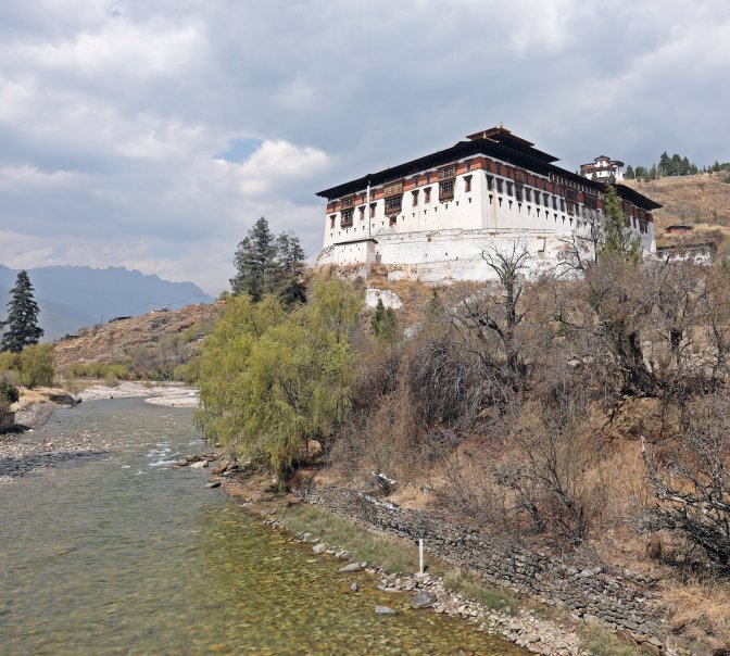 Paro Dzong on the Paro Chhu