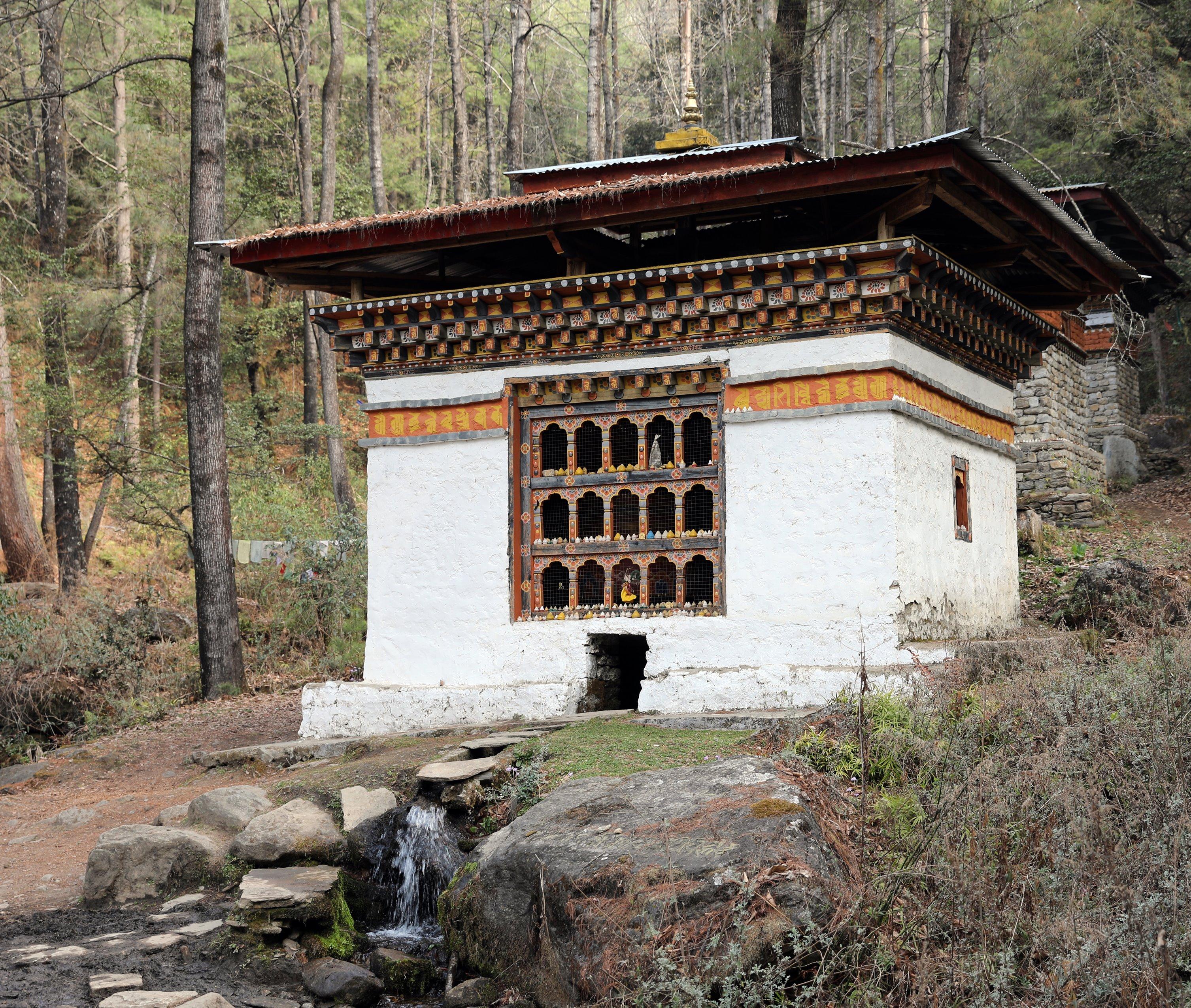 Buddhist Water Wheel on Tiger's Nest Trek