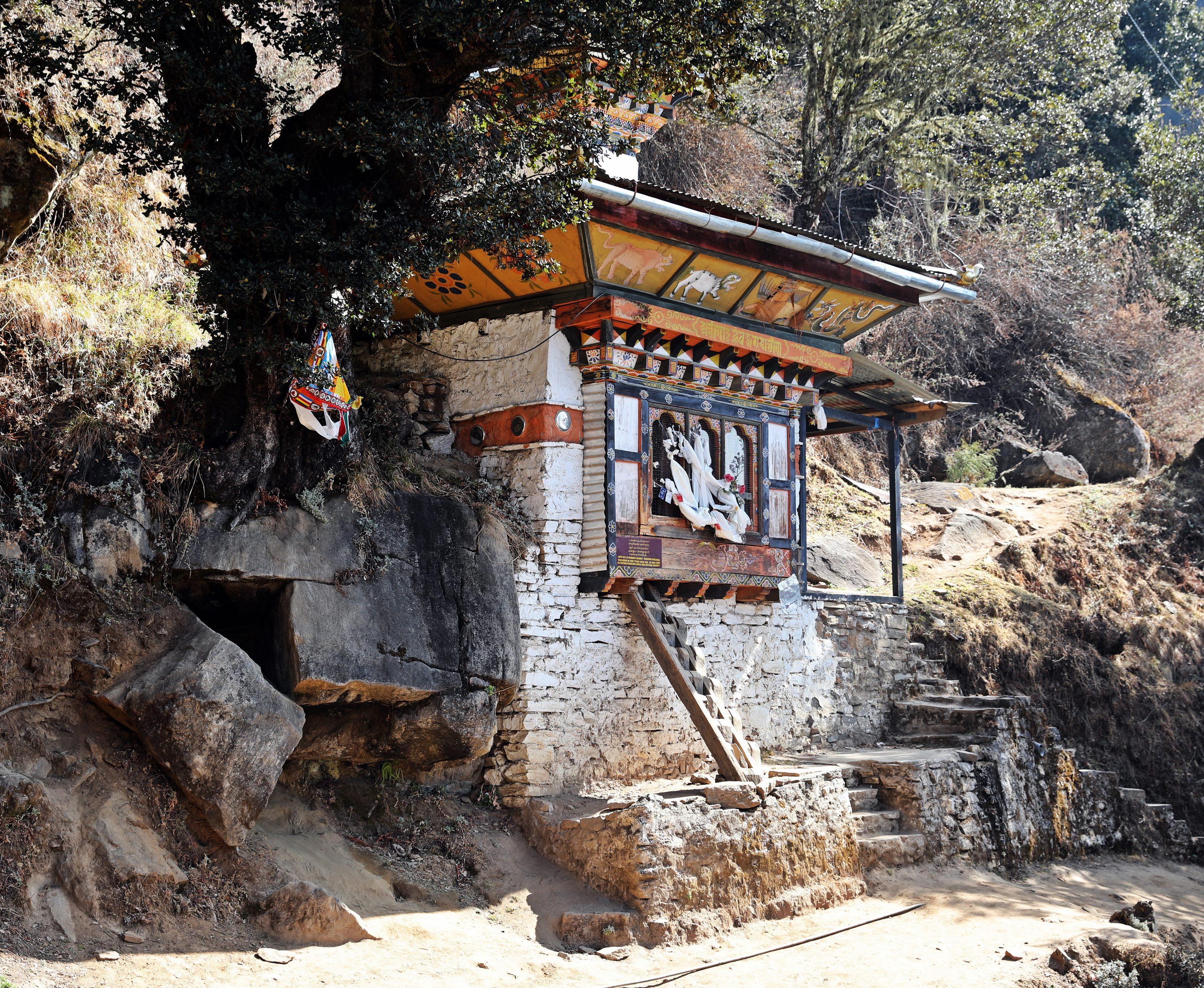 Shrine on the trek to Tiger's Nest
