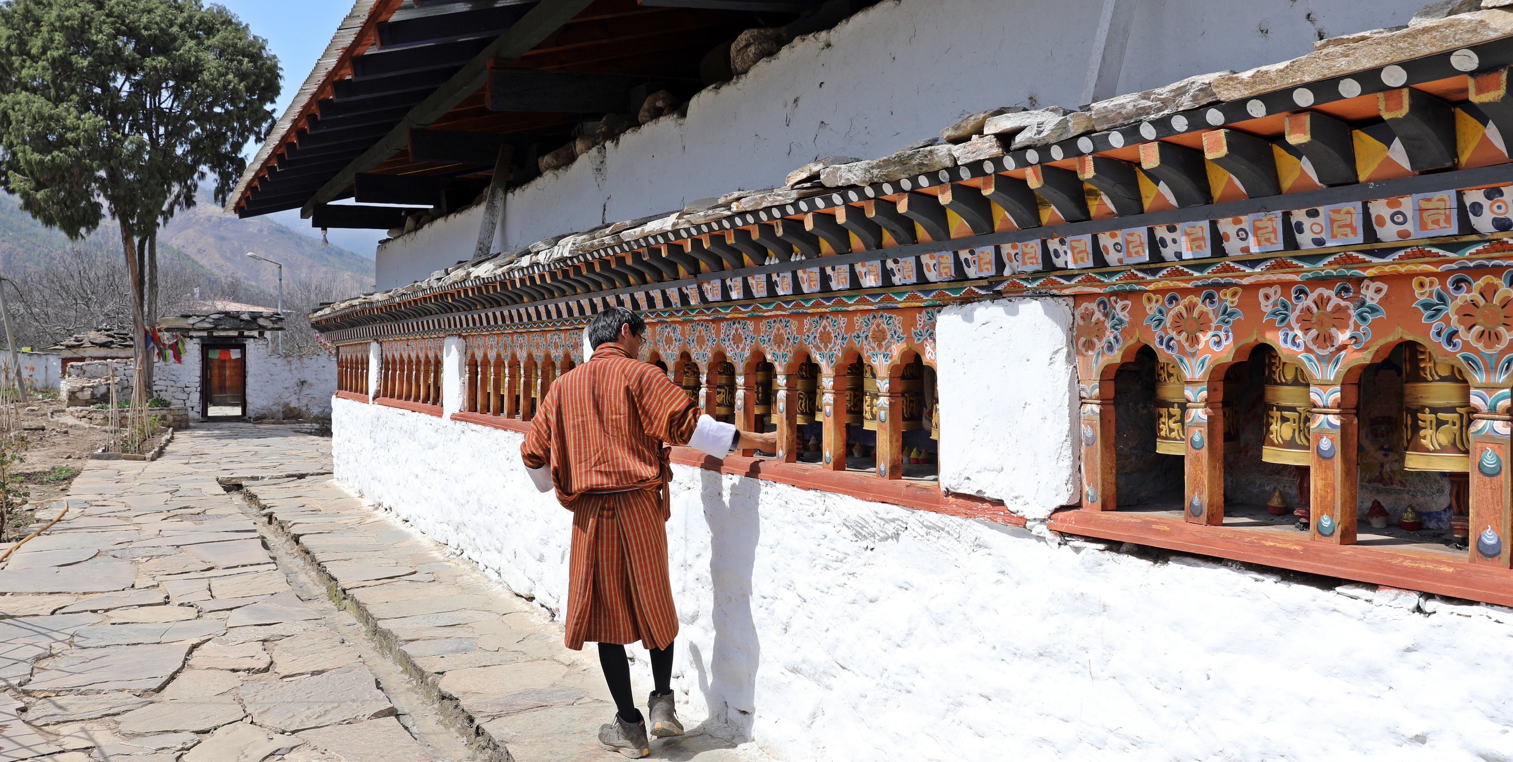 Buddhist Prayer Wheels, Kichu Lakhang