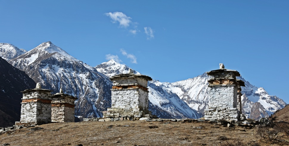 View from Jumolhari Base Camp