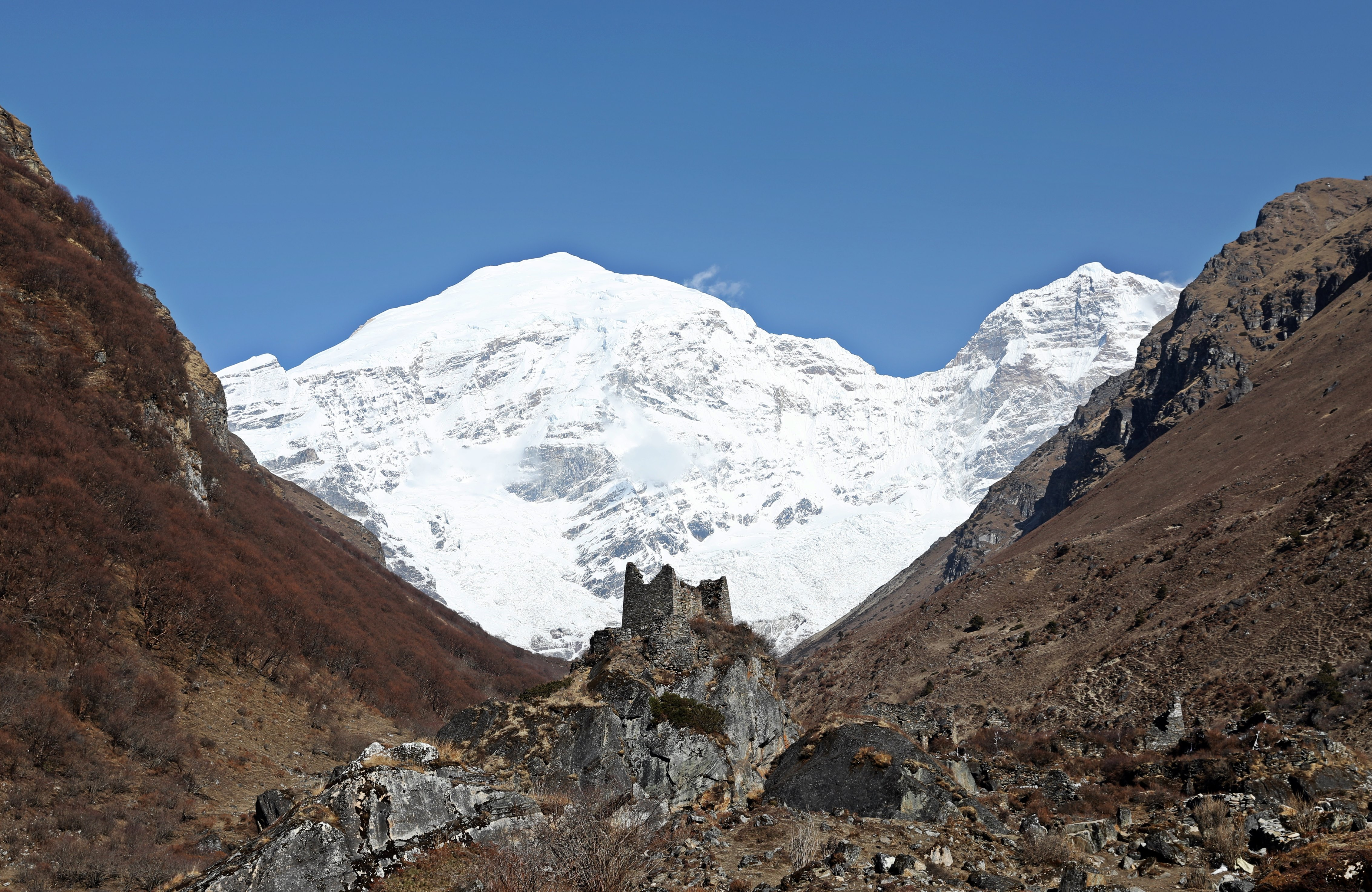 Jumolhari and Castle Ruins