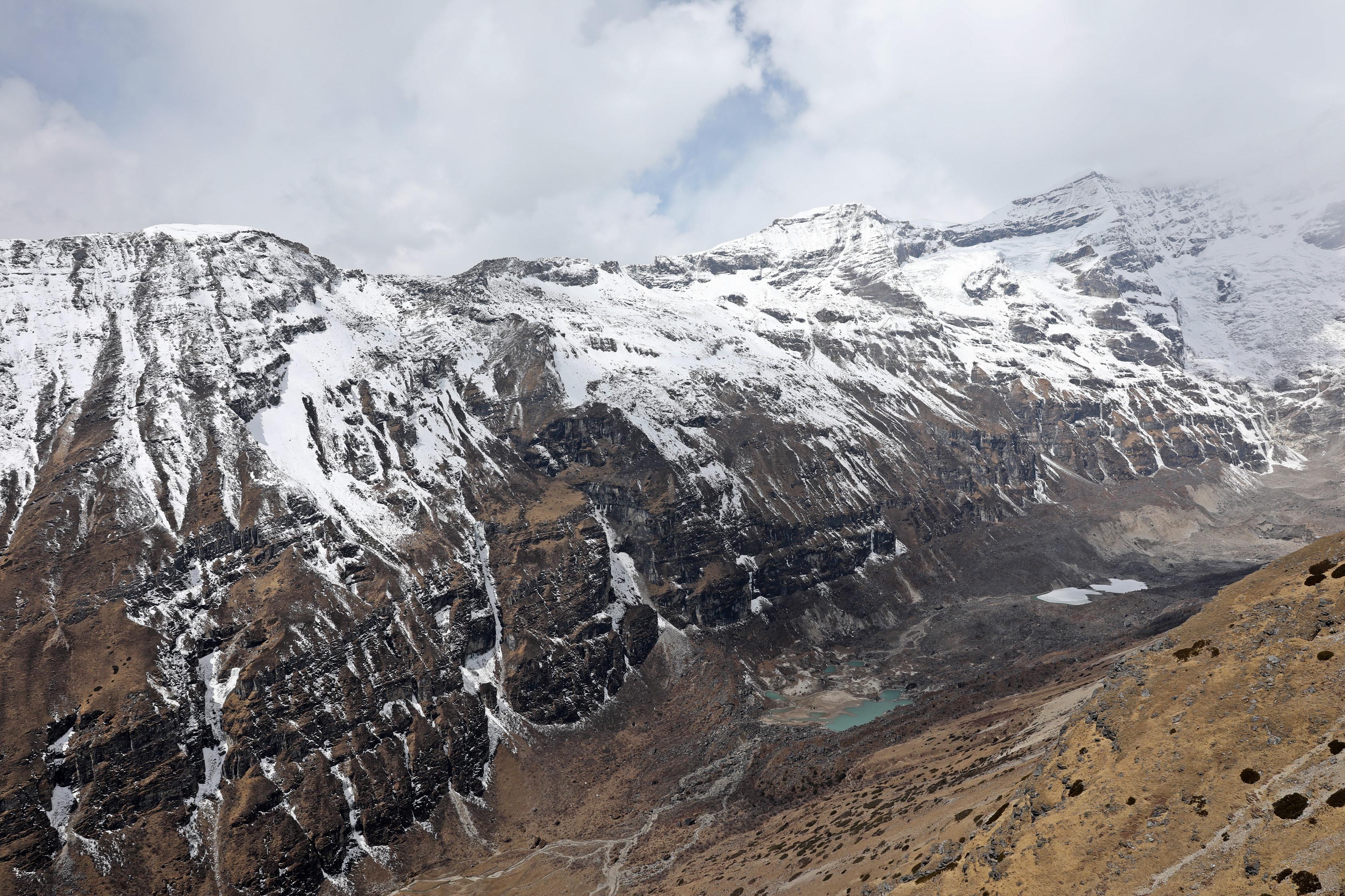 Mt Jumolhari and its moraine lakes