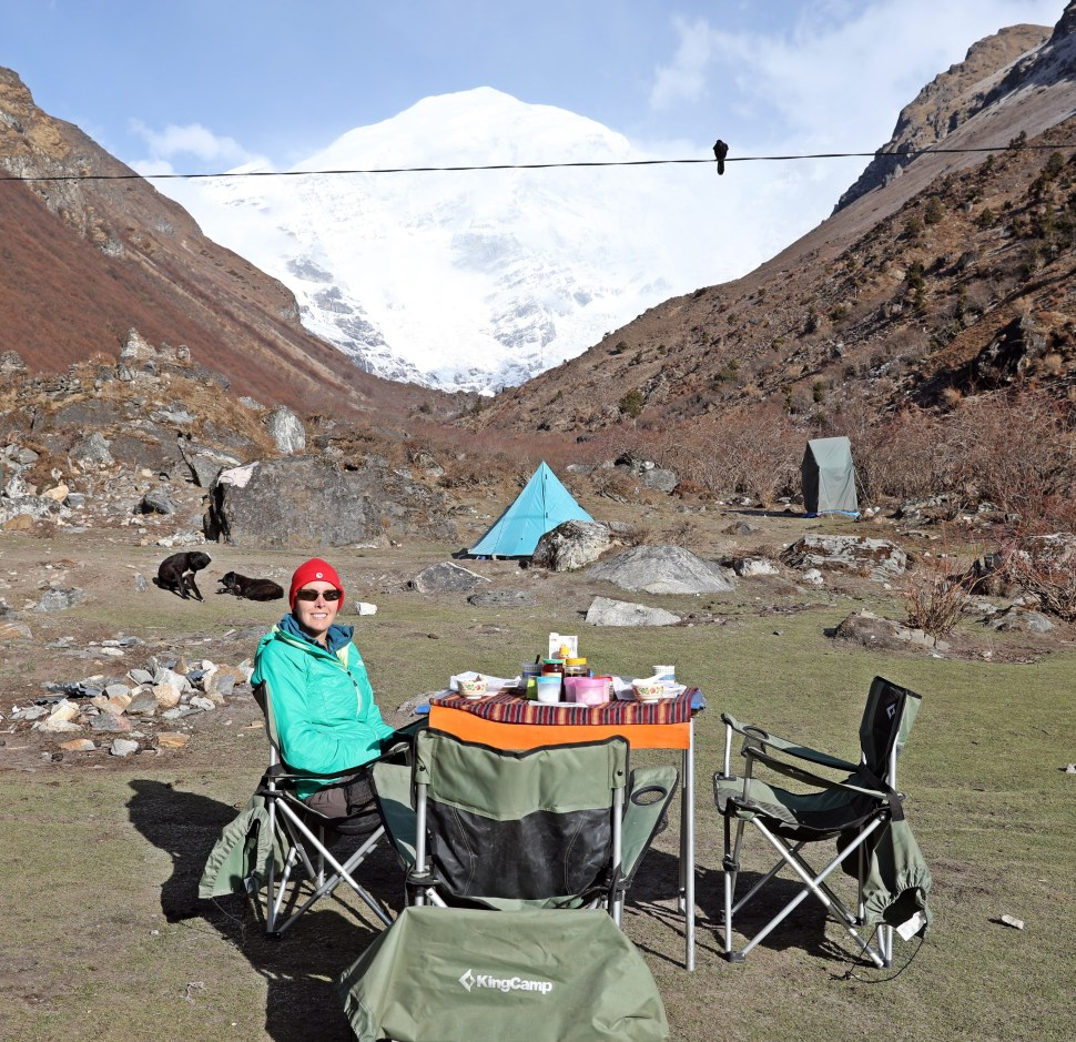 Breakfast at Base Camp (Jangothang)