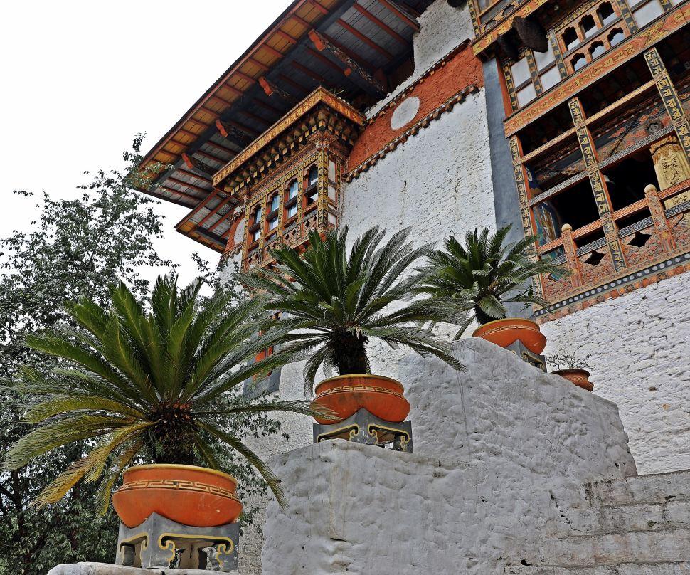Entrance to Punakha Dzong (Fortress)