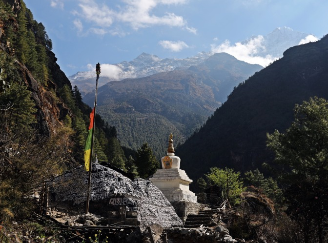 Mani Wall and Chorten on the Everest Base Camp Trek