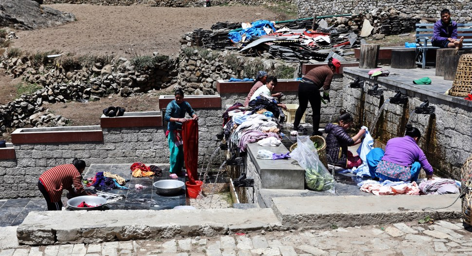 Laundry Day in Namche Bazaar