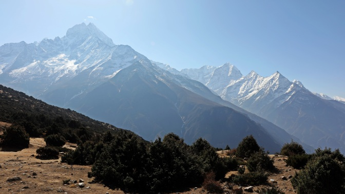 Mt Thamserku seen from above Namche Bazaar